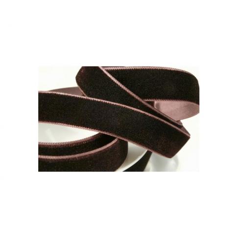 JUOST-2534 Barhatinė juostelė, 16mm, kaina už 50 cm, tamsi ruda
