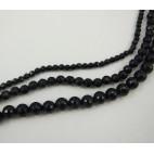 5-1408 Agatas, briaunotas, juodas, 4mm