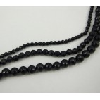 5-1409 Agatas, briaunotas, juodas, 6mm