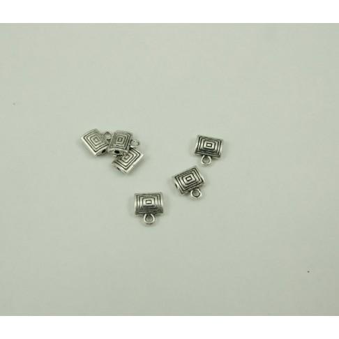 7-7343 karoliukas su kilpele, 11x10mm