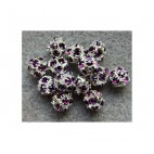 SWK-7116 Karoliukas 6mm, ametisto sp. kristalais