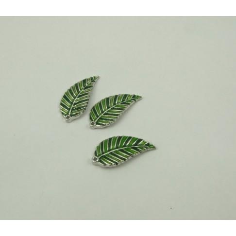 7-4750 pakabukas lapelis, žaliais atspalviais, 35x17mm