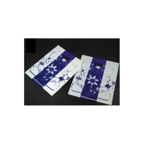 PLAST-M2 Plastikiniai maišeliai balta-mėlyna, 20x25mm