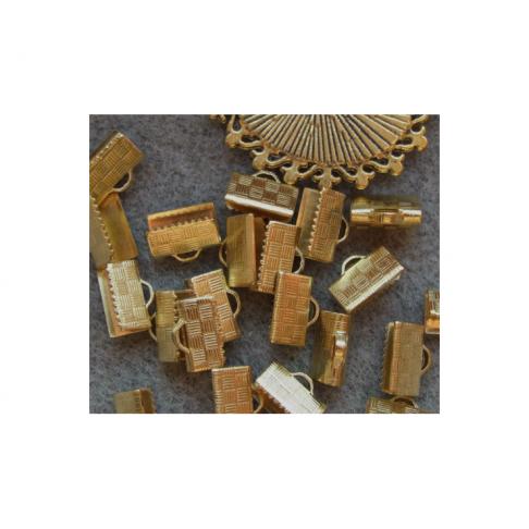 AUK-KP10 Spaustukas kaspinams, 10x7mm, tinka ir prie sendinto aukso detaliu