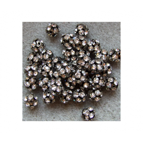 JUOD-KKR6M Karoliukas su kristalo akutėmis, 6mm