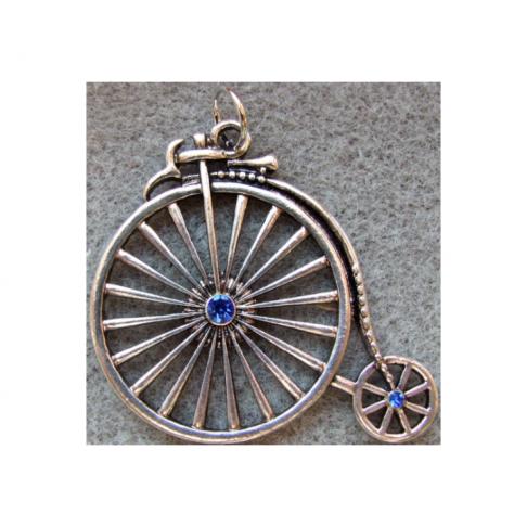 SID-PKD115  Pakabukas dviratukas, 55x40mm, mėlynom akutėm