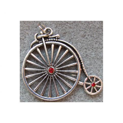 SID-PKB116 Pakabukas dviratukas, 55x40mm, raudonom akutėm