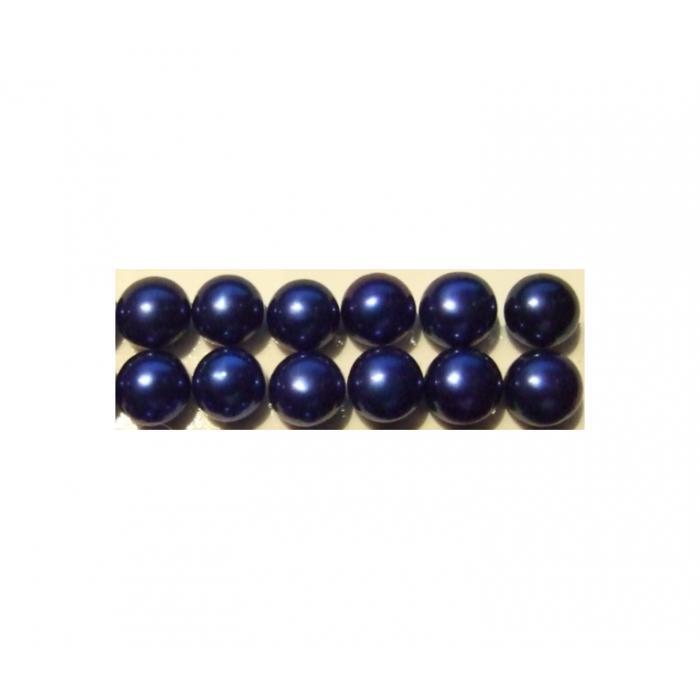 PERL-PS7MM pusiau gręžtas perliukas, 8mm, tamsiai mėlynas