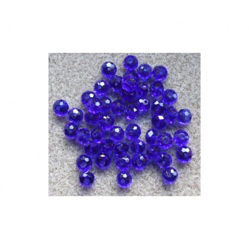 KR-PM45 Kristalo karoliukas 6.5x4.5mm, mėlynas
