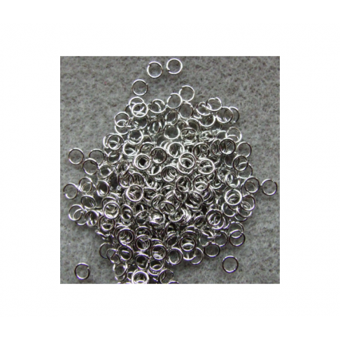 7-ZDM11 Žiedelis, platinos sp., 4x0.6mm
