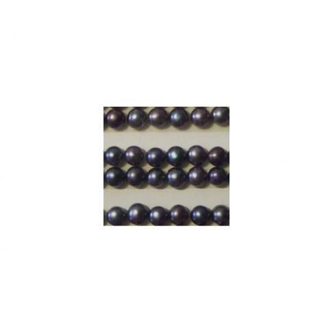 PERL-4MM Perliukas, pusiau gręžtas, apie 4mm, tamsus
