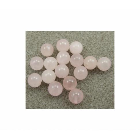 AKM-PG3692 Rožinio kvarco pusiau gręžtas karoliukas, 4mm