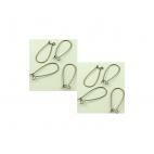 ZALV-KBS18 Kabliukai auskarams, 25x10mm, už 2