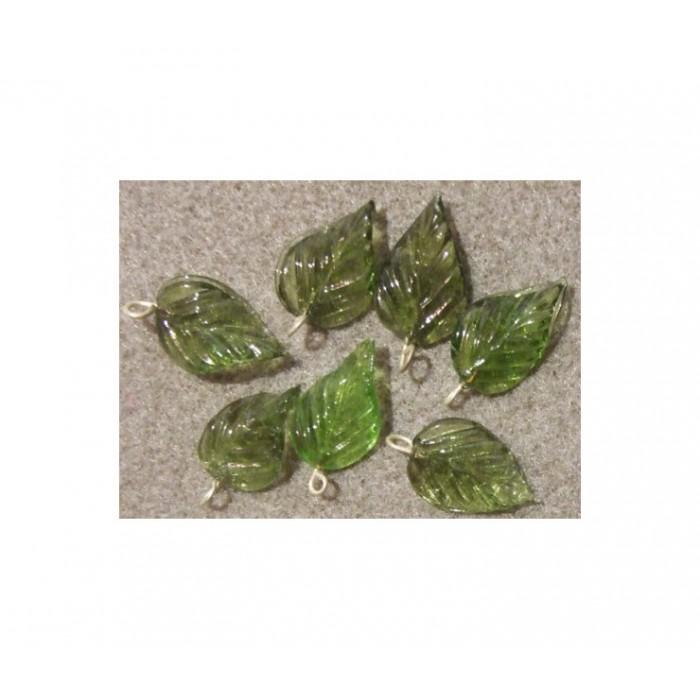 ST-PKBK11 Stiklinis pakabukas, 22x14mm, žalias