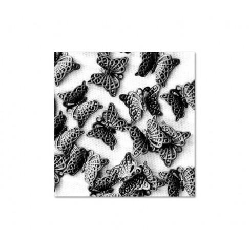 JUOD-AZR105 Pakabukas ažūrinis drugelis, 11x8mm
