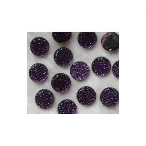 KABAS-AKR2714 Akrilinis kabošonas, 12mm, violetinis