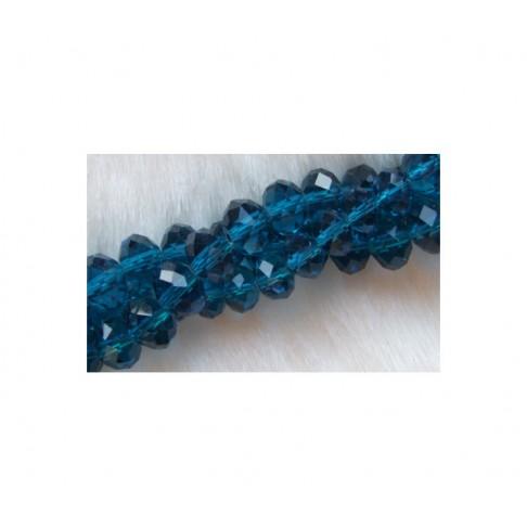 KR-TA107 Kristalo karoliukas 10x7mm, mėlynai-žalsvas