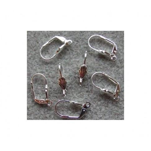 SID-8101  kabliukai auskarams, 18x10, su kriauklyte, už porą