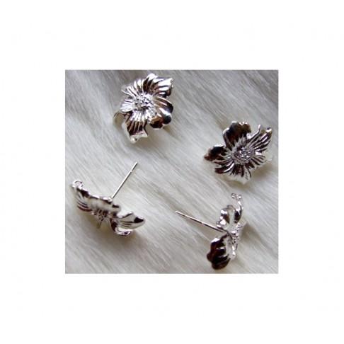 "SID-ASK513 Vinutės auskarams "" Gėlytės, už porą"