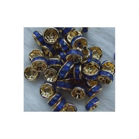 AUK-ATT9 Intarpas su stiklo akutėm,7mm, tamsiai mėlynom