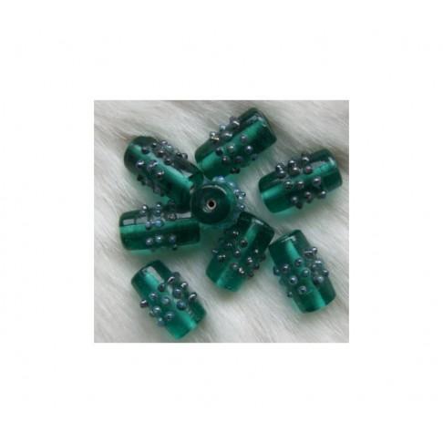 LAMPW-92012 Karoliukas stiklinis, 20x9mm, žalias