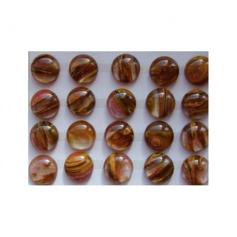 KAB-AK771182  Vyšninio-melioninio kvarco kabošonas, 16x6mm