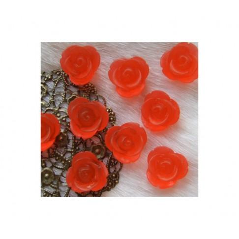 G-261 Akrilinė Gėlytė, 13mm, RAUDONA