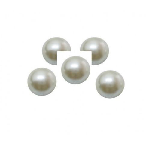 KABAS-19001-1 Kabošonas akrilinis, perlo imitacija, 16mmx6mm, už 5 vnt.