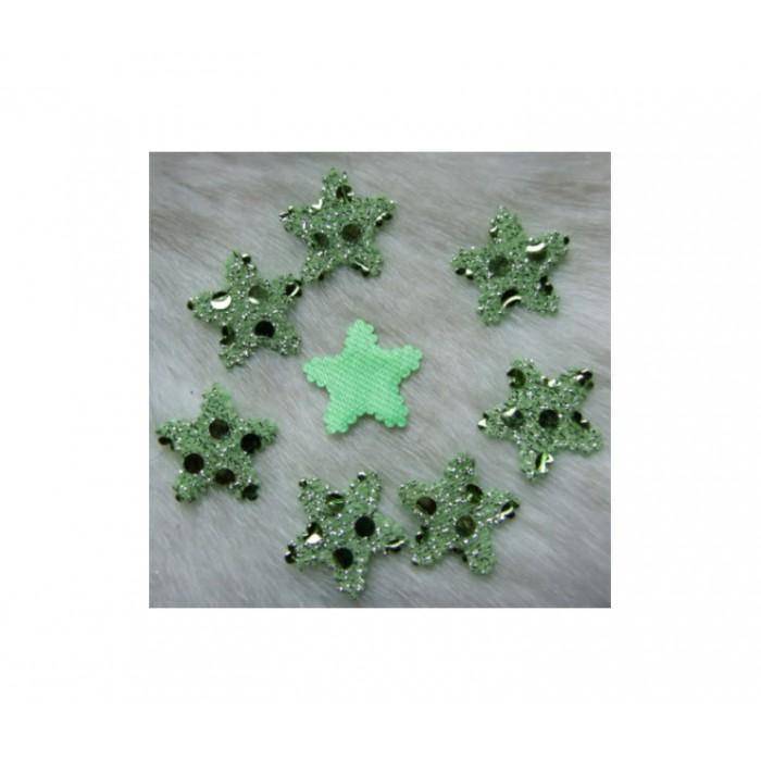 """APL-309 Aplikacija """"Žvaigždutė"""" žalia, 19x19mm"""