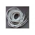 VIR-46321 Odinė virvutė su užsegimu, 46 cmx 3mm, balta