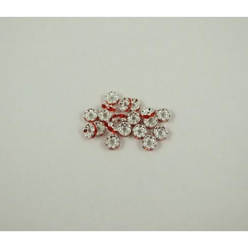 7-6633 Intarpas su raudonom kristalo akutėm 6mm