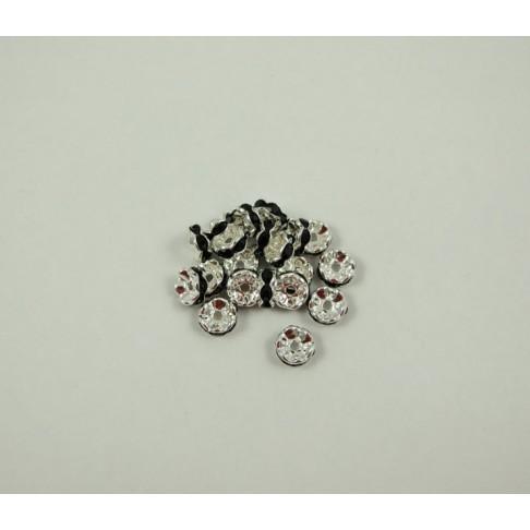 7-6627 Intarpas juodom kristalo akutėm 8mm