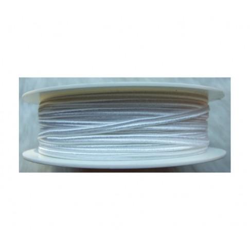 """Sutažo juostelė-0914 """"Pega"""" 3mm, viskozė, už 50cm, balta"""