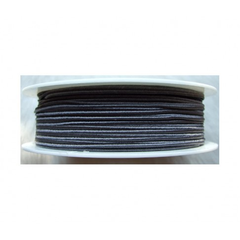 "Sutažo juostelė-0222 ""Pega"" 3mm, viskozė, už 50cm, pilka"