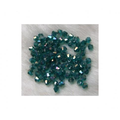 KR-KR44781 Karoliukas 4mm, emerald zalia AB
