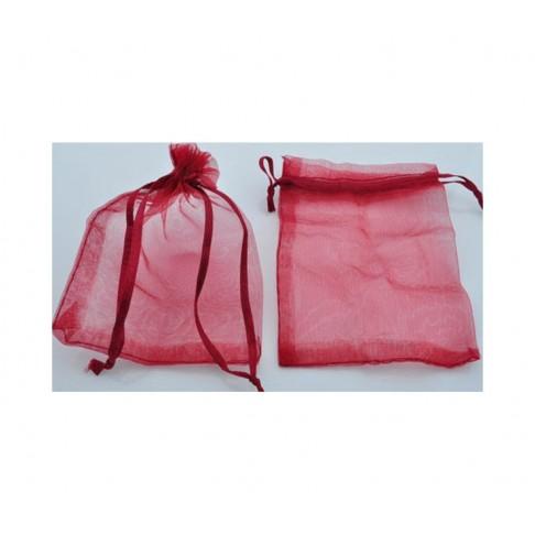 M-08875 Organzos dovanų maišelis 12x9 cm, raudonas