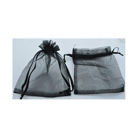 M-08870 Organzos dovanų maišelis 12x9 cm, juodas