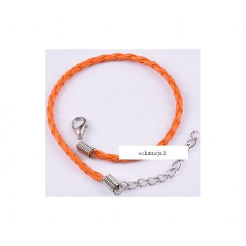 V-0057 Apyrankė, 3mm pločio, oranžinė