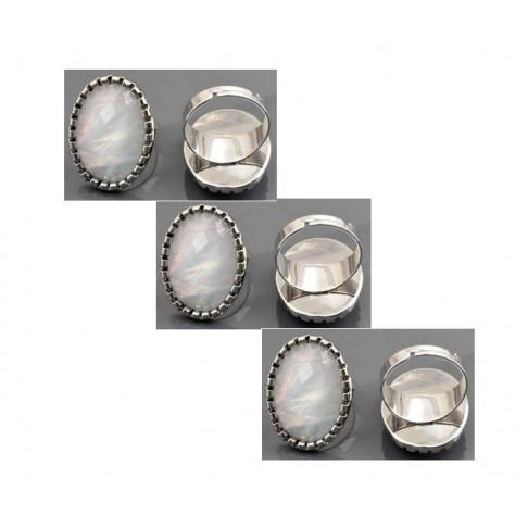 ZD-01619 Žiedas, dydis apie 18, akutė 28x21mm