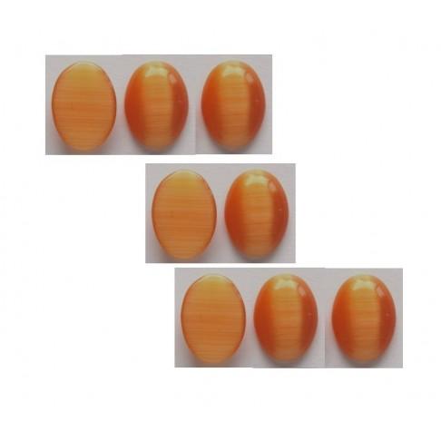 KAB-KT18131 Kabošonas 18x13mm, katės akis, šv. oranžinės sp.