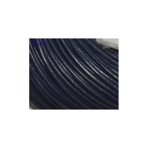 O-MM3 Odinė virvutė, 2mm, tamsiai mėlyna-juoda sp., kaina už 10cm