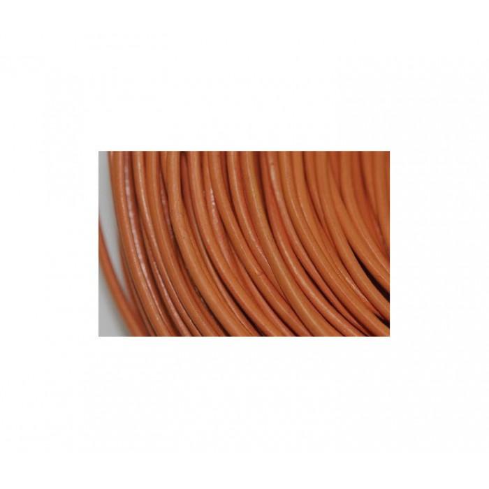 O-MM1 Odinė virvutė, 2mm, oranžinės sp., kaina už 10cm