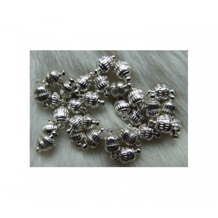 SID-61153 Magnetinis užsegimas, sidabro sp., 11x6mm