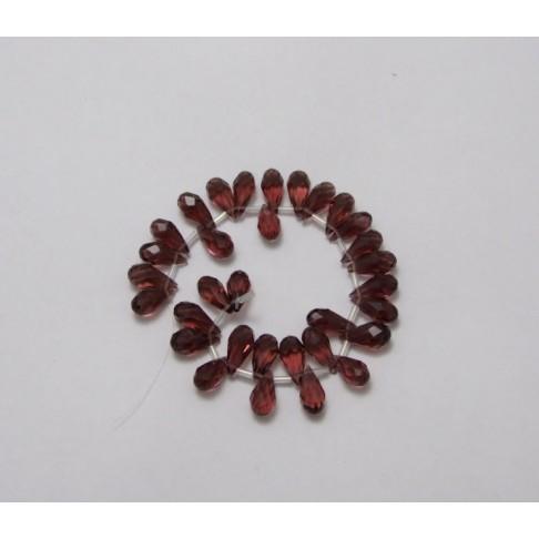 KR-6390 Kristalas lašelio formos 15x7, ametisto sp.