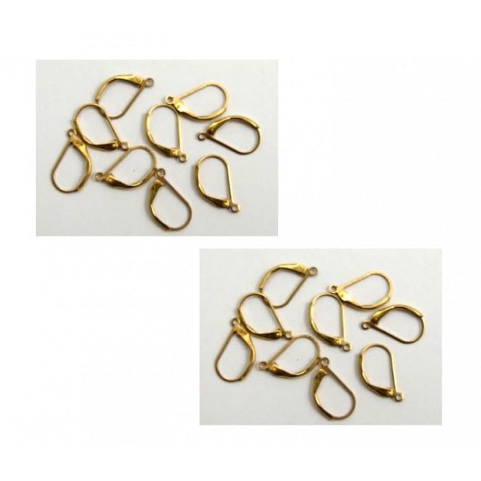 A-224  auskarams , spalva tinka ir prie send., aukso sp. detalių, 10x17mm, už 2