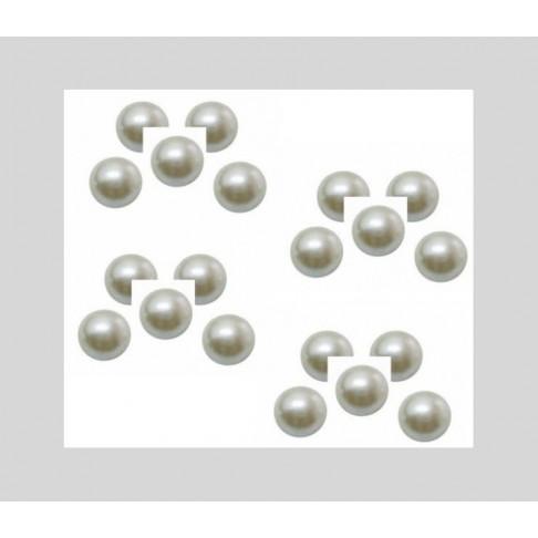 KAB-19002 Kabošonas akrilinis, perlo imitacija, 16mmx6mm, už 10 vnt.