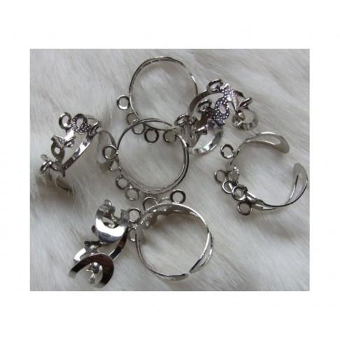7-95776 Ruošinys žiedui, 5 kilpučių, dydis reguliuojasi