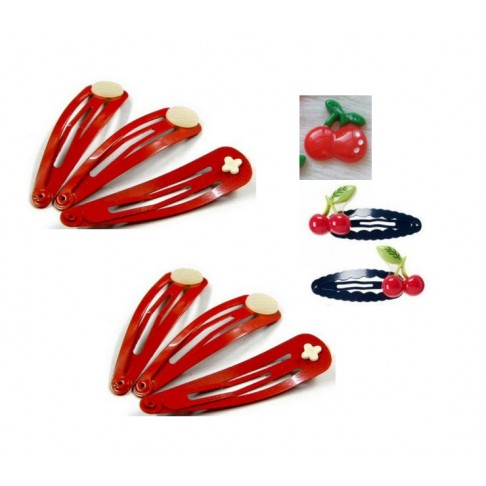 S-4733 Ruošinys segtukams į plaukus, raudonas