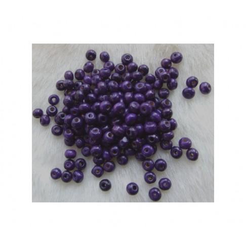 MED-K5413  medinis karoliukas, 5x4mm,tamsiai violetinis