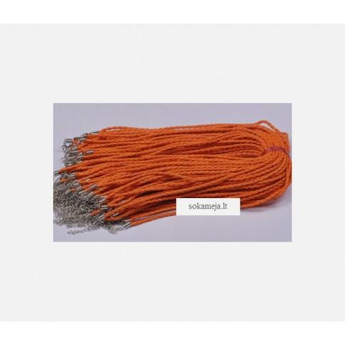 VIR-SP5A Virvute su užsegimu, 46cmx 3mm, oranžinės sp.